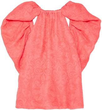 Rosie Assoulin Ruffled Silk-jacquard Top