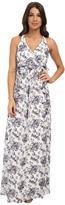 Jessica Simpson Floral Print Ruffle Maxi Dress