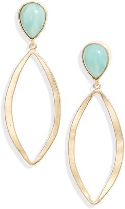 Halogen Open Marquis Stone Drop Earrings