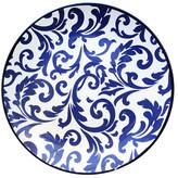 Jay Import Scroll Blue Round Platter