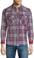 Affliction Men's Leverage Long Sleeve Check Shirt