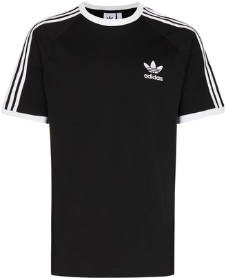 adidas stripe detail cotton T-shirt