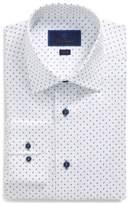 David Donahue Trim Fit Paisley Dress Shirt