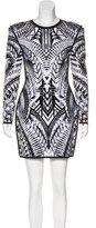 Balmain Structured Jacquard Dress