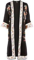 Topshop Longline embroidered kimono