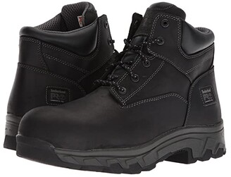 Timberland Workstead 6 Composite Safety Toe SD (Black Full-Grain Leather) Men's Work Lace-up Boots