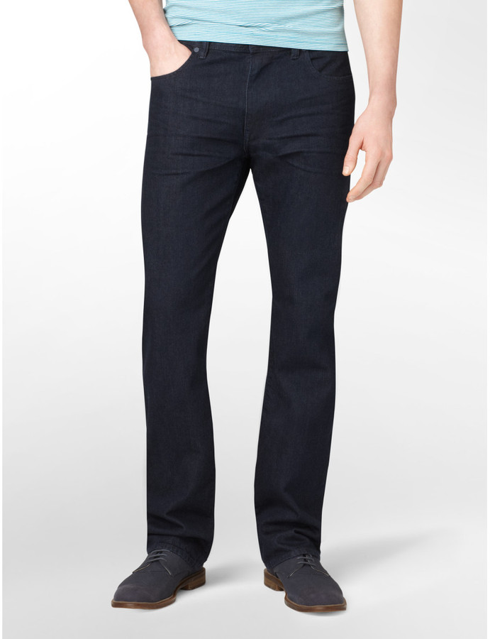 Calvin Klein Straight Leg Double Indigo Saturated Rinse Jeans Mens