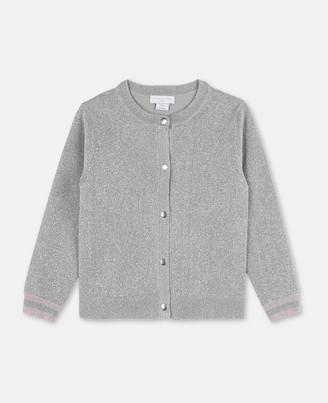 Stella Mccartney Kids Stella McCartney lurex knit cardigan