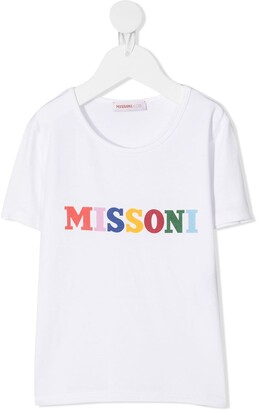 Missoni Kids logo print T-shirt