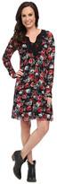 Roper 9906 Printed Mesh Dress