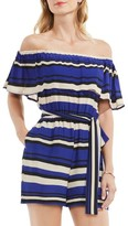 Vince Camuto Women's Kalai Stripe Off The Shoulder Romper