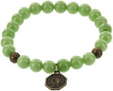 JCPenney FINE JEWELRY Dee Berkley Mens Genuine Green Agate Bead Spiderweb Stretch Bracelet