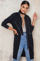 Just Female Trench Bomber Jacket