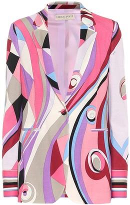 Emilio Pucci Wool-blend printed blazer