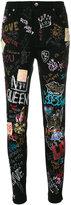 Dolce & Gabbana graffiti skinny jeans
