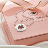 Molly Brown London Personalised Silver Flower Hope Necklace