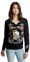 True Religion Womens Flower Sweatshirt