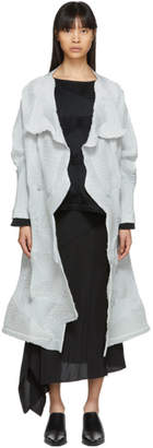Issey Miyake Grey Dots Stretch Coat