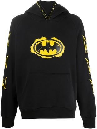 Mjb Marc Jacques Burton long sleeve distressed Batman logo hoodie