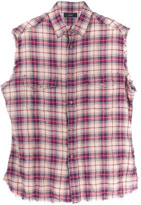 Alanui Check-Print Sleeveless Buttoned Shirt