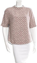 Joseph Printed Silk Top