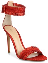Gianvito Rossi Caribe Tinsel Ankle-Strap Sandals