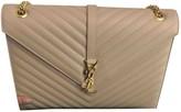 Saint Laurent Satchel monogramme Beige Leather Handbags