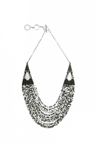 Forest of Chintz Black & White Makeda Necklace
