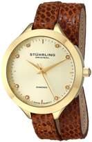 Stuhrling Original Women's 624.03 Vogue Analog Display Swiss Quartz Brown Watch