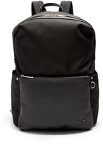Fendi Leather-pocket nylon backpack