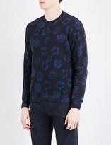 Sandro Floral-print cotton sweatshirt