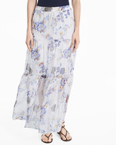 White House Black Market Floral Print Maxi Skirt