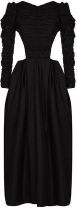 KHAITE Rosaline embellished open-back dress