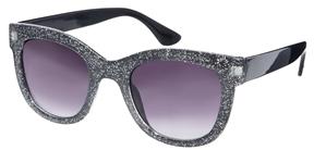 Jeepers Peepers Glitter D frame Sunglassses - Black glitter