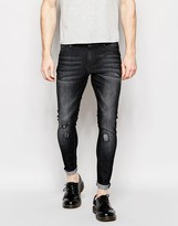 Cheap Monday Jeans Mid Spray Extreme SuperStretch Skinny Fit Gray Vision Repair