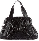 Chanel Vinyl Quilted CC Shopping Tote
