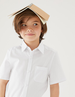 Marks and Spencer 2pk Boys' Cotton Slim Fit School Shirts