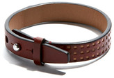 Perforated Leather Bracelet Cordovan