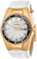 Technomarine White & Rose Goldtone Silicone Bracelet Watch