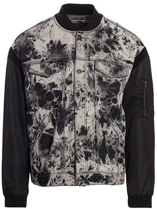 Madison Supply Fabric Mix Trucker Jacket