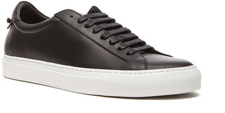 Givenchy Knots Low Top Leather Sneakers in Black | FWRD