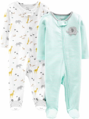 Simple Joys by Carter's Baby Neutral 2-Pack Cotton Footed Sleep and Play