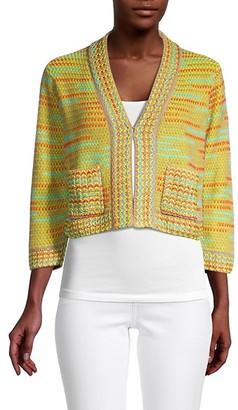 M Missoni Multicolored Tweed Jacket