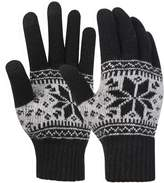 Novawo Warm Magic Touchscreen Gloves Mittens for Men and Women - Soft Wool Blend