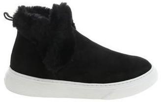 Hogan H365 Fur-Trim Ankle Boots
