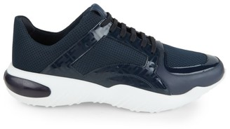 Fendi Logo Leather & Mesh Runners