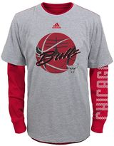 adidas Boys 4-7 Chicago Bulls Cager Tee Set