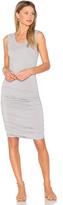 Bobi Modal Jersey Ruched Mini Dress