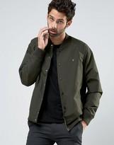 Farah Bomber Jacket In Green Nylon