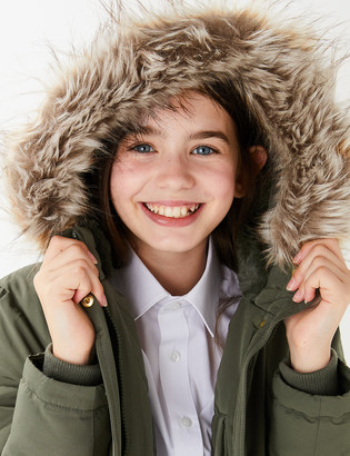Marks and Spencer Stormwear Cotton Hooded Parka (6-16 Yrs)